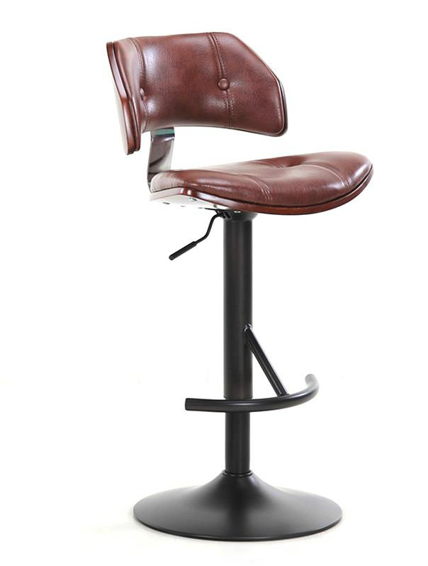 European Style Bar Chair Lift Chair Rotary Bar Chair Simple Home Backrest High Stool Cash Register Chair