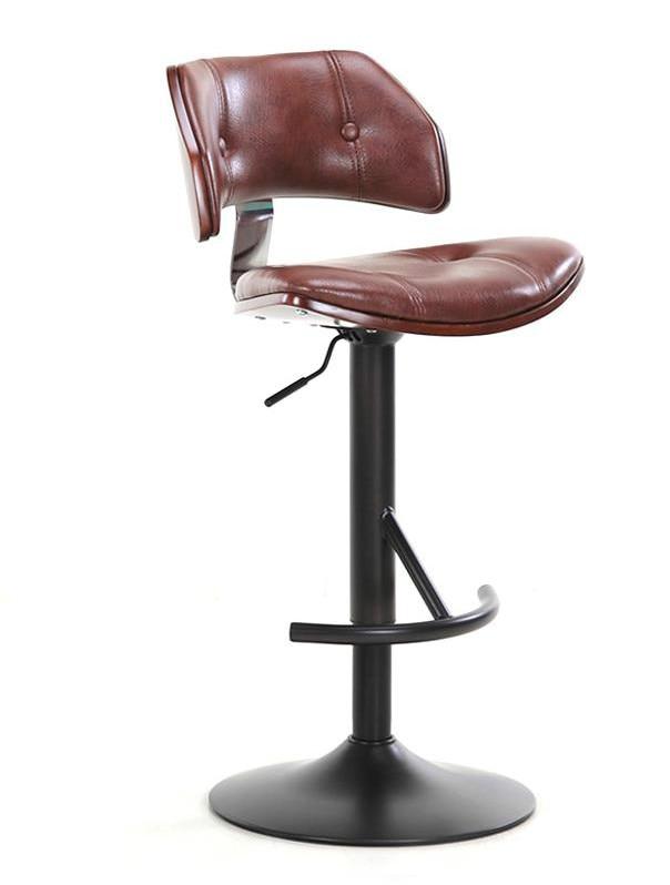 European Style Bar Chair Lift Chair Rotary Bar Chair Simple Home Backrest High Stool Cash Register Chair