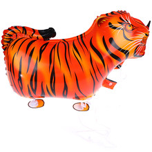 1pcs/10pcs Walking Tiger balloon animals ballon for birthday decoration party supplies kids classic toys(China)