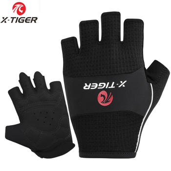 X-Tiger Anti-Slip Half Finger Cycling Gloves High Elastic Breathable MTB Bike Gloves Summer Bicycle Gym Fitness Sports Gloves rockbros cycling bike bicycle gloves half finger gel anti shock breathable elastic bicycle gloves mtb motorcycle sports gloves