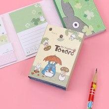 1pc bonito melody 6 almofadas de memorando dobrável adesivo notas bookmark presente papelaria