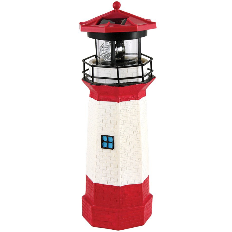 BEAU-Solar Lighthouse with Rotating Lights Landscape Lights Outdoor Lighting