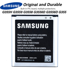 Original Samsung EB-BG355BBE Battery For Samsung GALAXY Core 2 G355H G3559 G3558 G3556D SM-G3556D G355 NFC 2000mAh samsung original phone battery eb bg355bbe for samsung galaxy core 2 g355h sm g3556d g355 g3559 g3558 g3556d 2000mah
