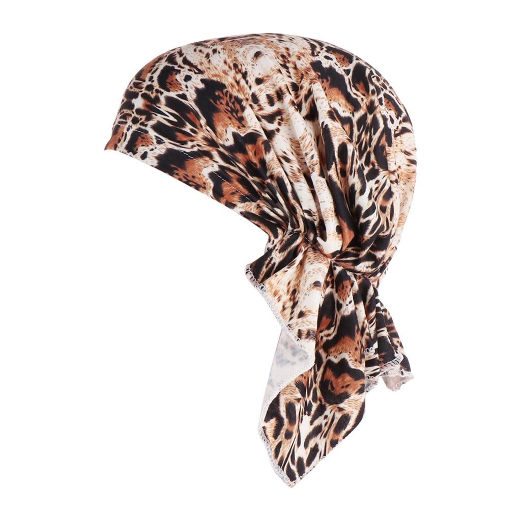 Женский Цветочный принт головы Обёрточная бумага Кепки Повседневное Шапки модные женские туфли с принтом Индия шляпа мусульманских рюшами Хемо шапочка-тюрбан Обёрточная бумага Кепки
