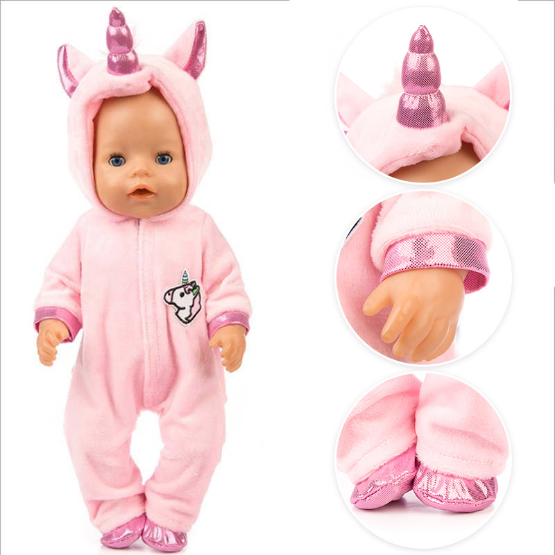 40cm New Born Baby Doll Clothes Rompers 17 Inch Bebe Doll Pajama Overall Set Accessories Baby Girl Birthday Gift