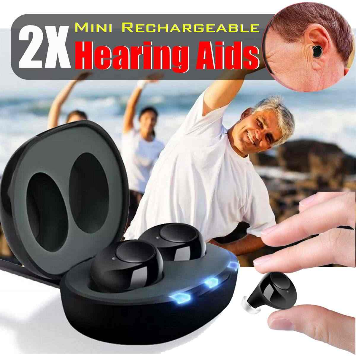 Mini Rechargeable Hearing Aid Digital Adjustable Tone for The Elderly Hearing Loss Sound Amplifier Voice Enhancer Hearing Aids