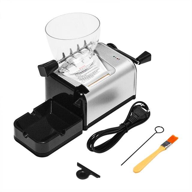 מתגלגל מכונת סיגריות מתכת חשמלי אוטומטי טבק רולר אלקטרוני יצרנית סיגריות מגש צינור עישון אביזרים