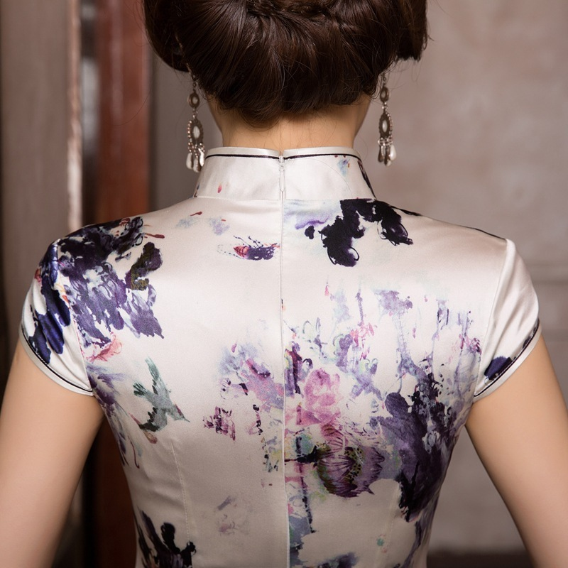 Image 2 - 2019 Real Cheongsam Skirt Restoring Ancient Ways Is The New Fashion And Elegant Temperament Cultivate Morality Dress Wholesale Quinceanera Dresses   -
