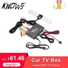 Автомобильный Стайлинг авто ТВ сигнал коробка DVB-T/T2 автомобильный Мобильный цифровой ТВ приёмник HEVC H.265 ТВ тюнер коробка Германия