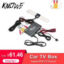 Auto Styling Auto Tv Signaal Box Dvb-t/T2 Auto Mobiele Digitale Tv Box Ontvanger Hevc H.265 Tv Tuner Box duitsland