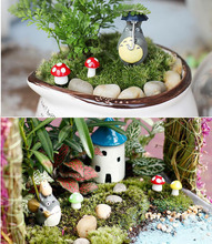 Mini Lighthouse Water Well Bridge Figurines Miniature Craft Fairy Garden Gnome Moss Terrarium Gift DIY Ornament Garden Decor