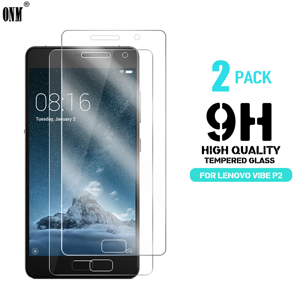2 Pcs/Lot 2.5D 0.26mm 9H Premium Tempered Glass For Lenovo Vibe P2 Screen Protector Toughened Protective Film For Lenovo P2