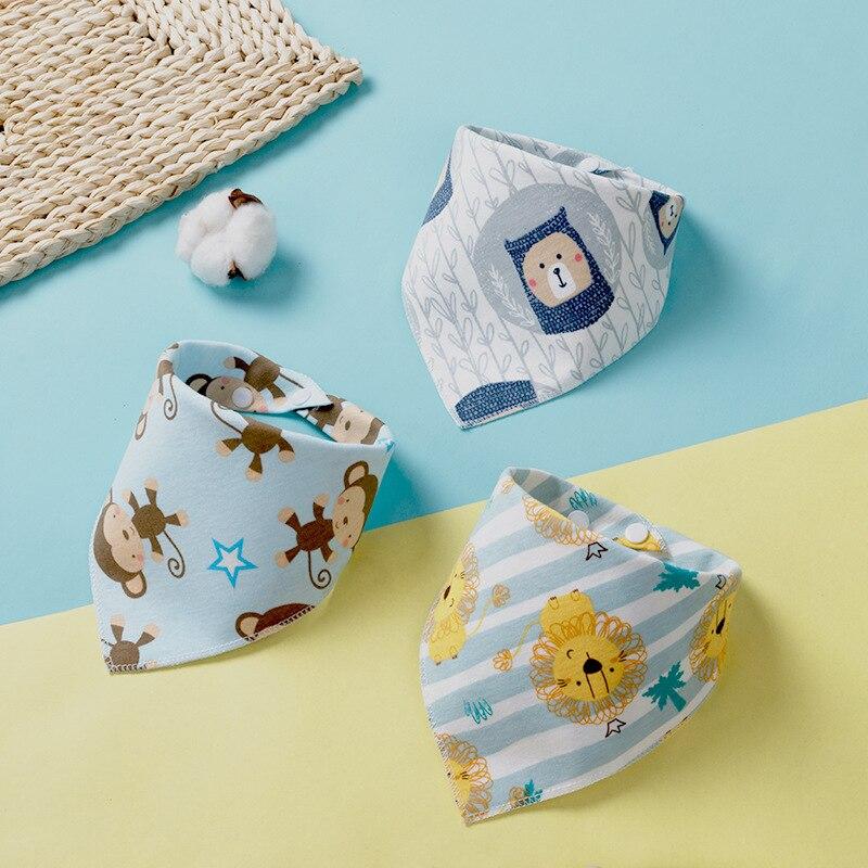 Бандана-нагрудник из хлопка, детская одежда для кормления, треугольная слюнявчик для младенцев, мультяшное слюнявчик, аксессуары для кормления младенцев, детские вещи 3