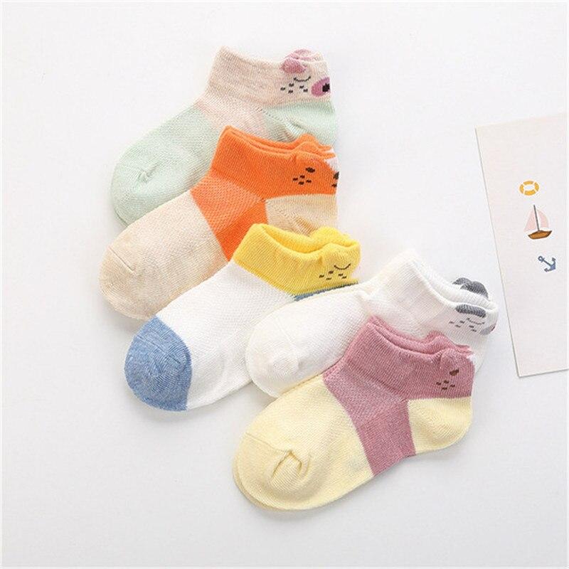 5 pares/lote 1-12 anos de verão de Alta qualidade meias Bebê Meias Crianças Da Menina do Menino de Algodão Casuais moda Respirável meias de malha