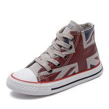 Children Canvas Shoes Girls Sneakers High Top Boys 2019 Spring Autumn Fashion Kids Casual for