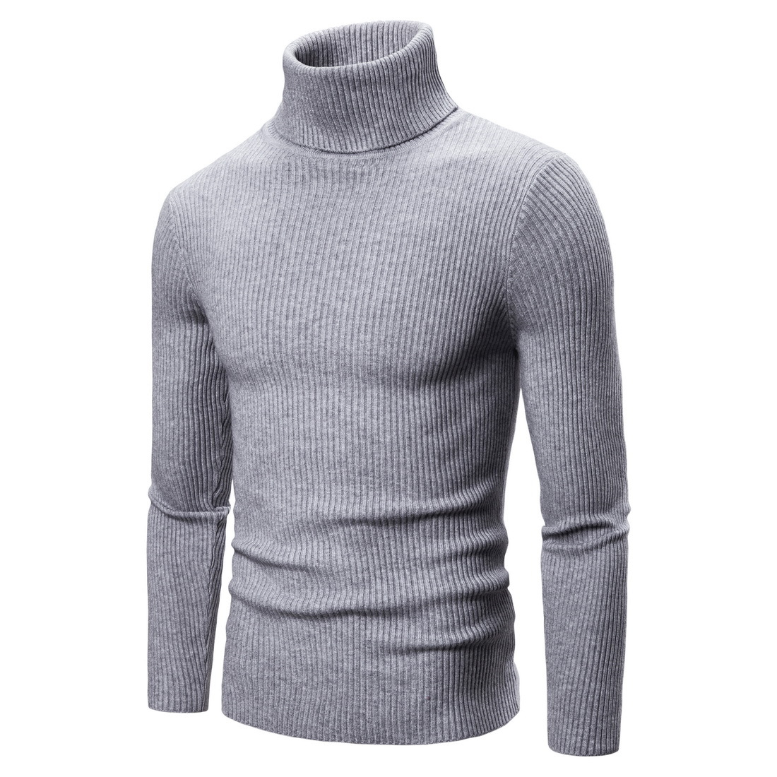 14 Colors GustOmerD 2019 Winter Turtleneck Men Solid Sknny Warm Pullovers Men Sweater Fashion Casual Cashmere Sweater Men Cloth