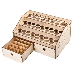 DIY Holz Organizer Farbe Flaschen Display Rack Pinsel Halter Stehen Lagerung Modell Werkzeug