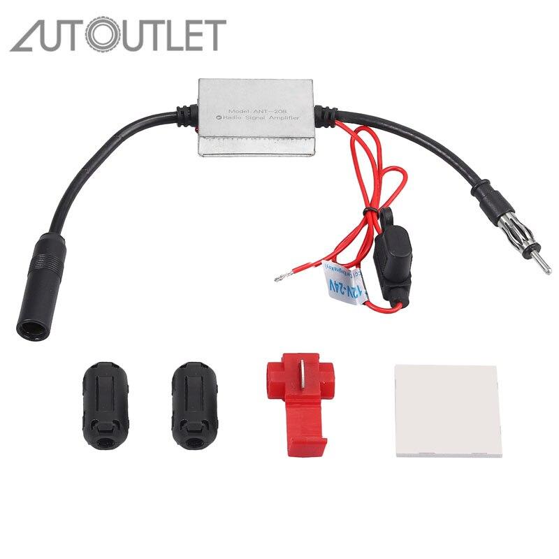 Car Auto Stereo FM /& AM Radio Signal Antenna Aerial Signal Amp Amplifier Booster