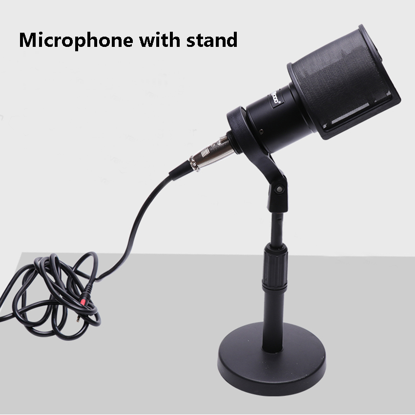 New Live Streaming Condenser Microphone with Mounts Holder Stands for Video Bloggers MIC for Computer Audio Recording in Microphones from Consumer Electronics