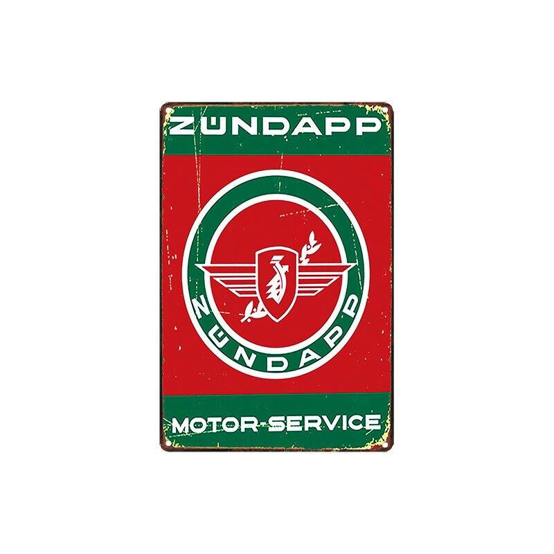 Металлический жестяной знак zundapp, моторный сервис, Декор, бар, паб, домашний винтажный Ретро постер