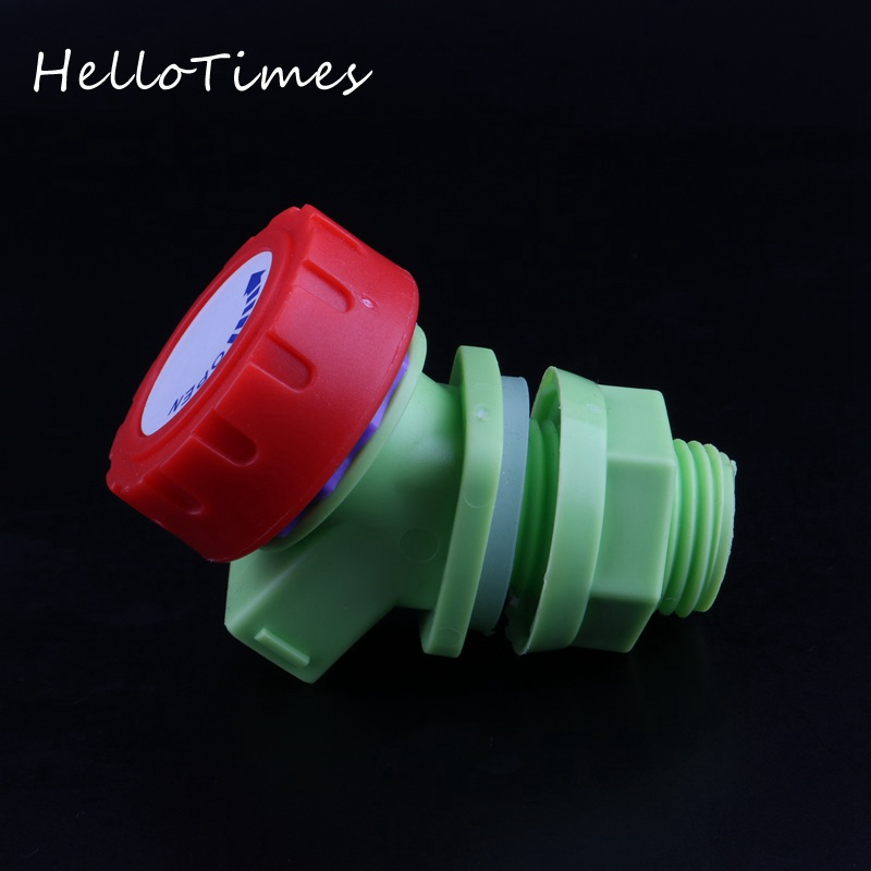 Water Tank Adapter Plastic Tap Valve Fittings Garden Water Connectors Drain Faucet Adapter Wine Barrel Fittings