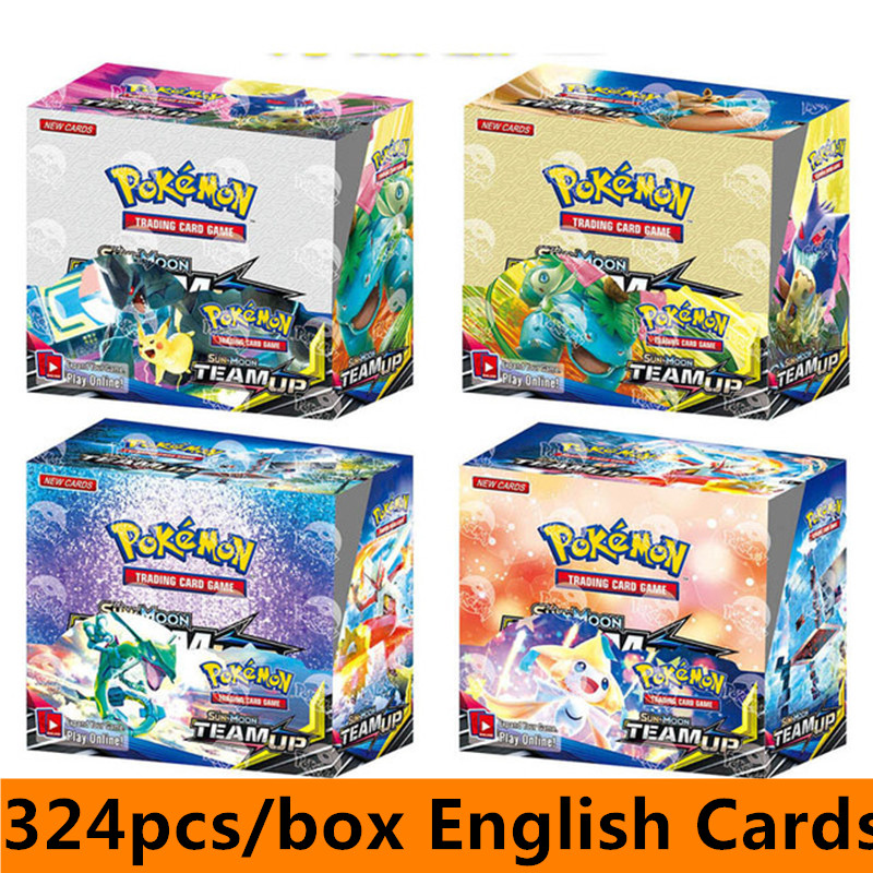 324Pcs/set Pokemon TCG: Sun & Moon English Cards Box Trading Card Game  TAKARA TOMY Cartoon Kids Christmas Toys Gifts