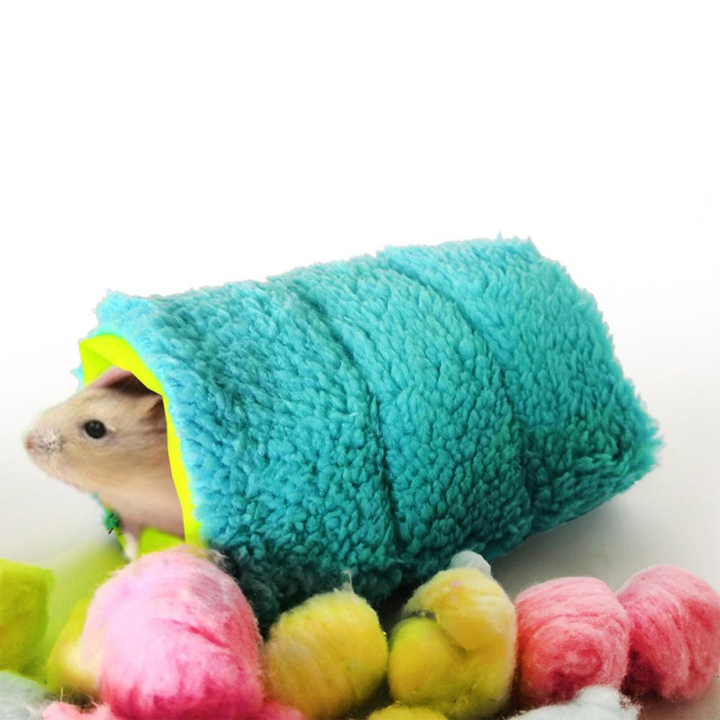 Small Pets Hanging Bed Warm Nest Fluffy Tunnel, Hamster/parrot Comfortable Hammock