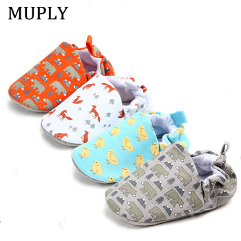 Baby Girls Boys Shoes Spring First Walkers Soft Soled Infant Toddler Cute Animal Fox Bear Soles Crib Footwear for Newborn - discount item  24% OFF Baby Shoes