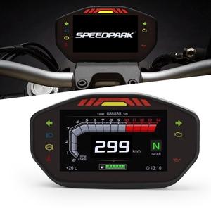 Motorcycle Universal LCD TFT Digital Speedometer 14000RPM 6 Gear Backlight Motorcycle Odometer For1,2,4 Cylinders Meter(China)