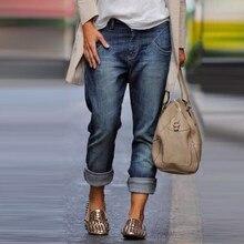 Jeans women high waist blue trousers wide-leg retro casual pants mom women trousers street straight pants girls plus size
