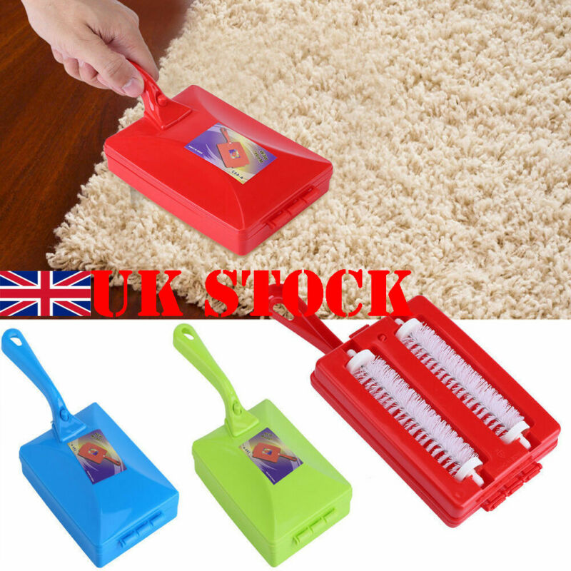 Brand New 1x Useful Carpet brush Cleaner Carpet Crumb Brush Collector Hand Held Table Floor Sweeper Rollers Home Tool Household image