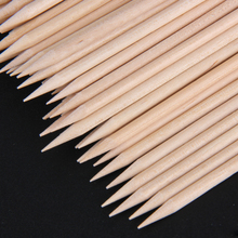 100pcs/set Nature Women Lady Double End Nail Art Wood Stick