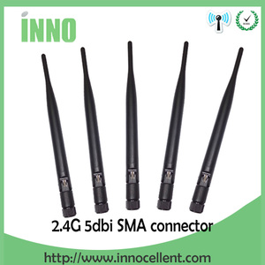 Image 1 - 2.4 GHz Antena wifi 5dBi złącze męskie SMA 2.4 ghz Antena wifi Antena 2.4G wodoodporna bezprzewodowy dostęp do internetu Antena dla bezprzewodowy router wifi