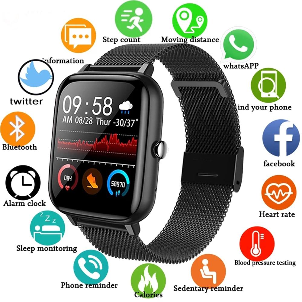 2021 Smart Watch uomo donna pressione sanguigna frequenza cardiaca Fitness Tracker bracciale Sport Smartwatch orologio Smart Clock per Android IOS 1