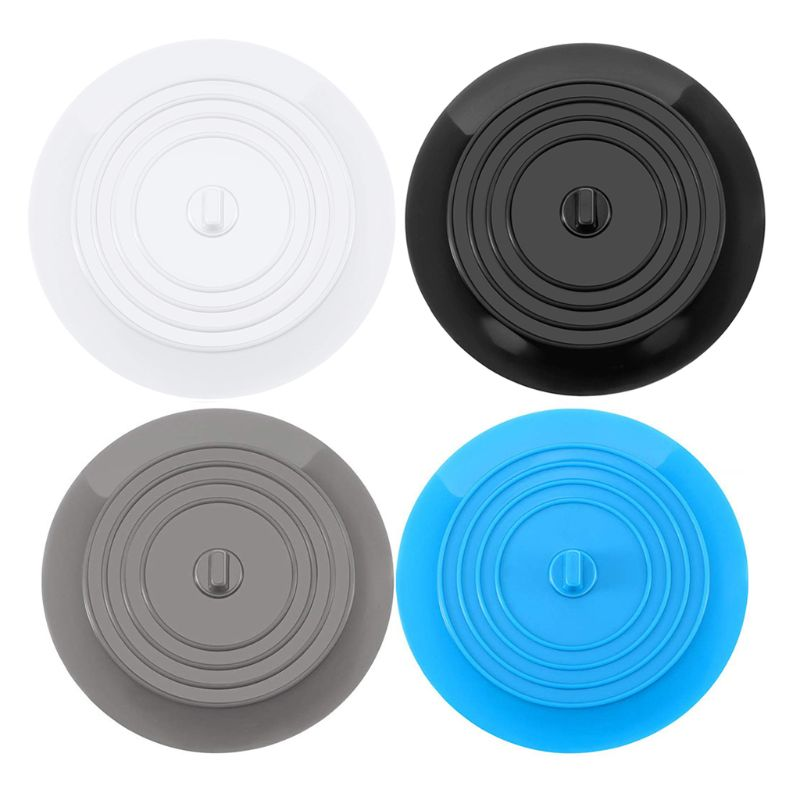 Round Silicone Flat Sink Plug Filter Sink Strainer The Leak-Proof Silicone Floor Drain Cover Bathroom Kitchen Accessories