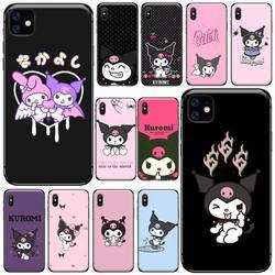 Kuromi-funda rosa y púrpura para móvil, funda para iphone 8, 11, 12, Redmi note 8, 9 s, huawei p 30 pro lite plus