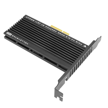 JEYI VolleyStar-פרו שחור גוף קירור גוף קירור M.2 NVMe SSD NGFF כדי PCIE X4 מתאם MKey יציאת כרטיס PCI-E 3.0x4 מלא מהירות RGB LED
