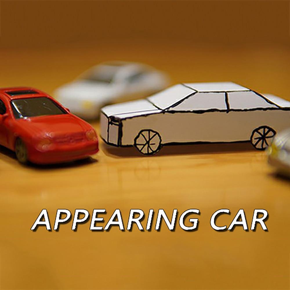 Apparaissant voiture tours de magie carte à papier voiture magicien gros plan rue Illusions Gimmicks mentalisme accessoires drôle enfants Magia jouet