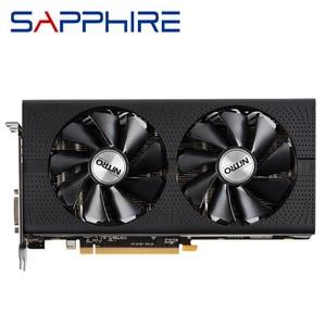 SAPPHIRE-carte graphique RX 480, 8 go, GPU AMD Radeon RX480, GDDR5 ordinateur de bureau, carte de jeu, HDMI, non minier