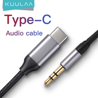 KUULAA USB C a 3,5mm AUX auriculares tipo C 3,5 Jack adaptador de Cable de Audio para Huawei Mate 20 Oneplus Xiaomi tipo C Cable de Audio