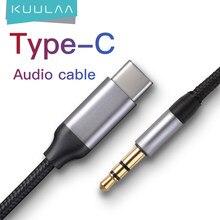 KUULAA USB C 3.5mm AUX kulaklık tipi C 3.5 Jack adaptörü ses kablosu için Huawei Mate 20 Oneplus xiaomi C tipi ses kablosu