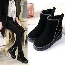 Женские зимние замшевые ботинки модные износостойкие Нескользящие