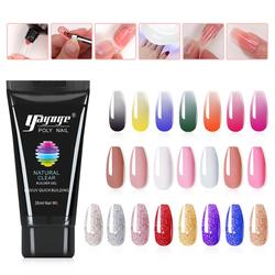 Yayoge Poly Nail Gel LED/UV Quick Building Gel Polish Nails Extension Finger Nail Art Manicure Acryl Gel Poly Extension Nail Gel