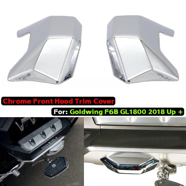 For Honda Goldwing F6B GL1800 Gold Wing Tour DCT Airbag Motorcycle Front Hood Chrome Trim Parts 2018 2019 2020