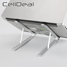 CellDeal 6 Level Adjustable Laptop Holder 7-15 Inch Notebook Stand Foldable Aluminium Alloy Laptop Stand Bracket Laptop Desk