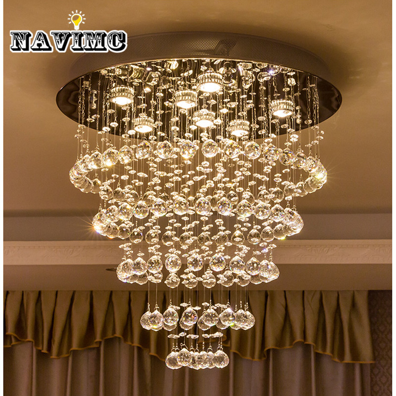 Modern Crystal Chandelier Large