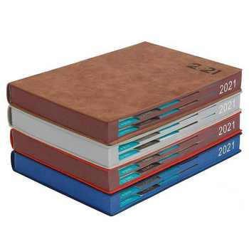 Notebook Books 2021 Schedule Plan 365 Days Daily Calendar Notepad Self-Discipline Punch Card Efficiency Libro Business Office image