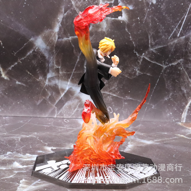 One Piece Sanji Action Figure Mode Anime Vinsmoke Sanji Figurine Hitam Kaki Diable Jambe Api Pertempuran Versi Mainan Boneka 16cm Aksi Toy Angka Aliexpress