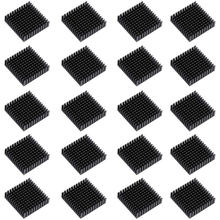 20PCS 40Mm X 40Mm X 11Mm Hitam Shim Aluminium Sirip Pendingin untuk Pendinginan MOSFET VRam Regulator VRM Stepper Driver(China)
