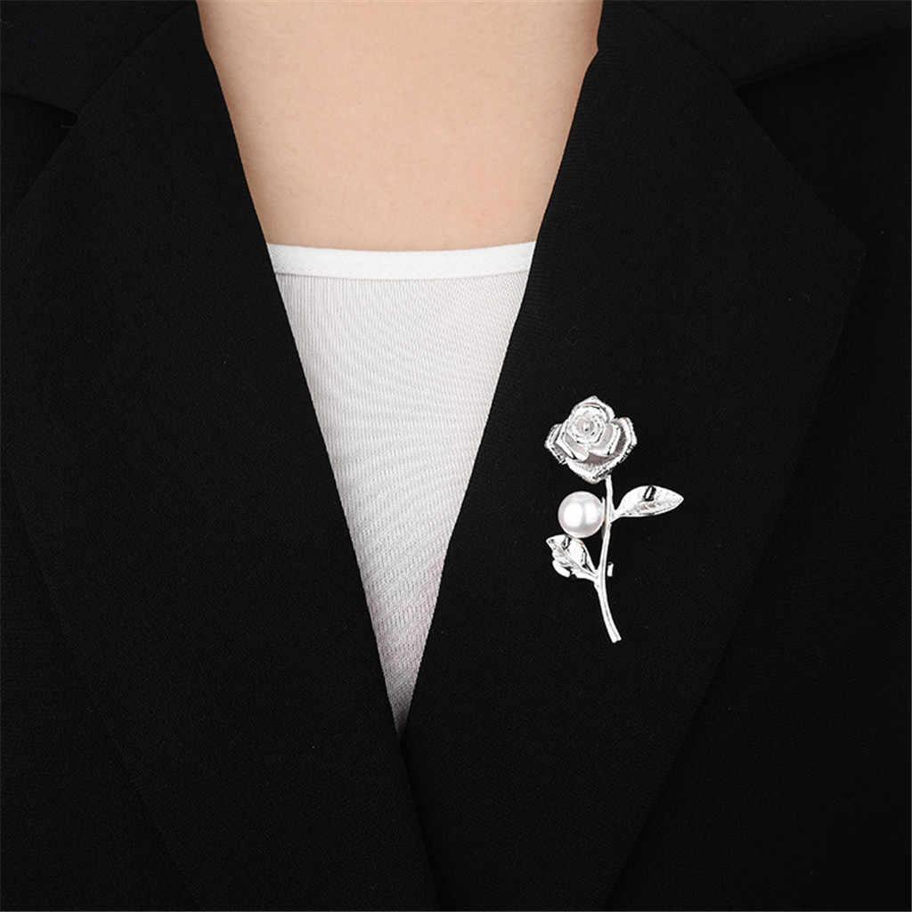 Rose Bros Mutiara Wanita Indah Bros Mutiara Fashion Syal Klip Pesta Pernikahan Perhiasan Cinta Hadiah Brocade Accesorios MujerF830